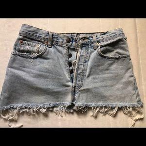 Levi Denim mini skirt W25